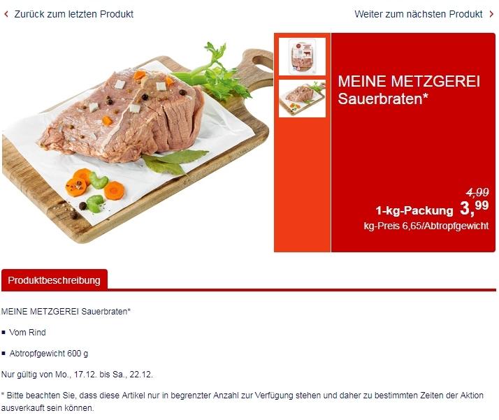 Цены на говядину в Германии