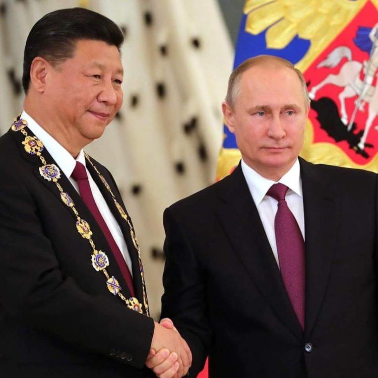 В.Путин и Си Цзиньпин