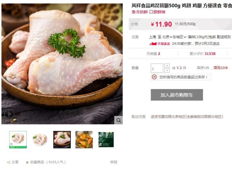 Цены на курицу в Китае