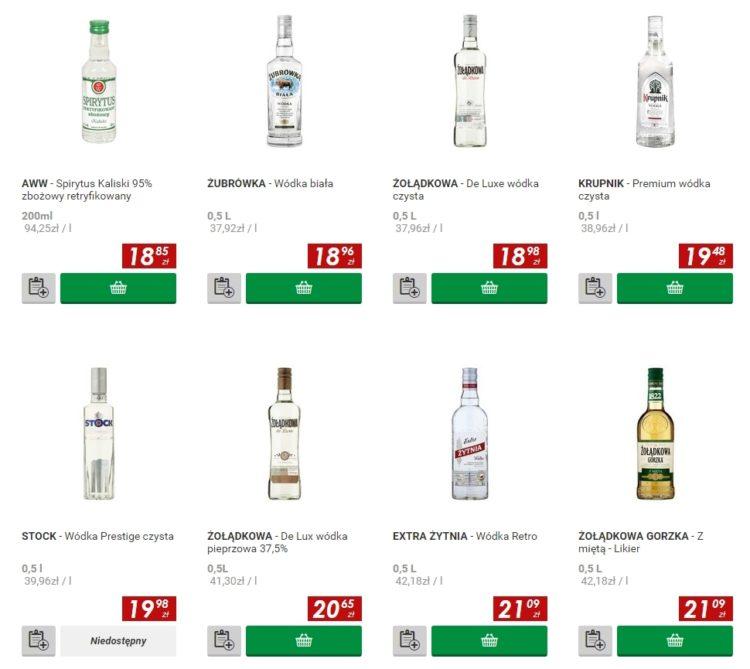 Цены на водку в Польше