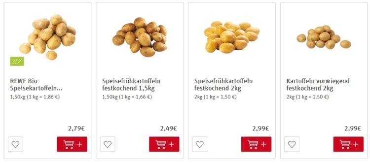 Цены на картофель в Германии