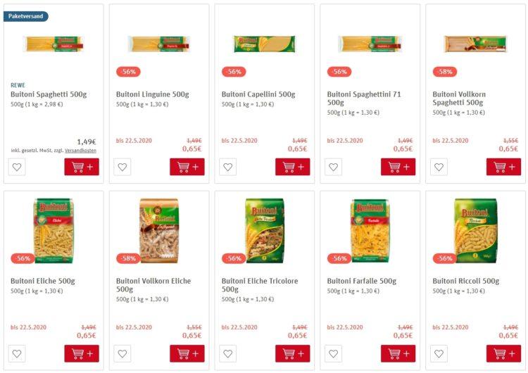 Цены на макароны в Германии