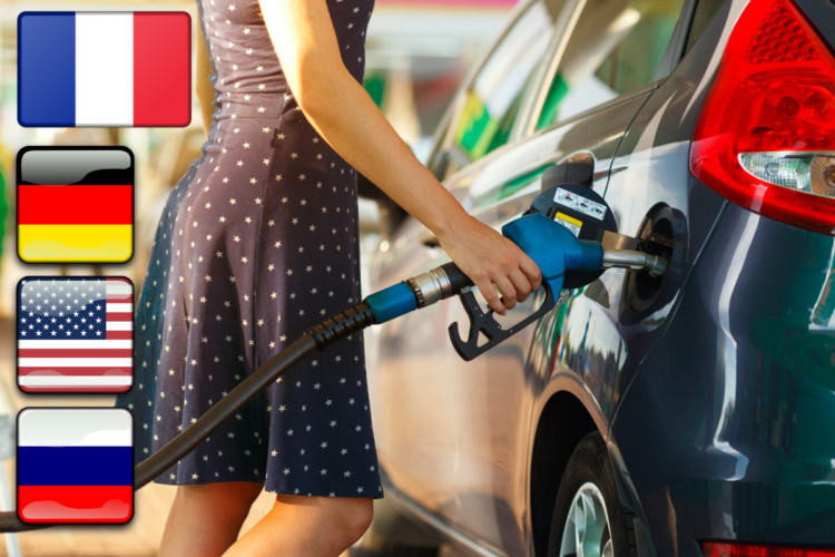 Сравнение зарплат и цен на бензин