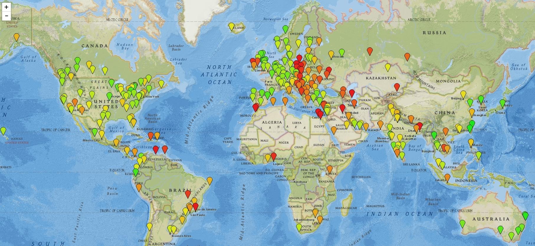 Индекс качества медицины - по городам и странам