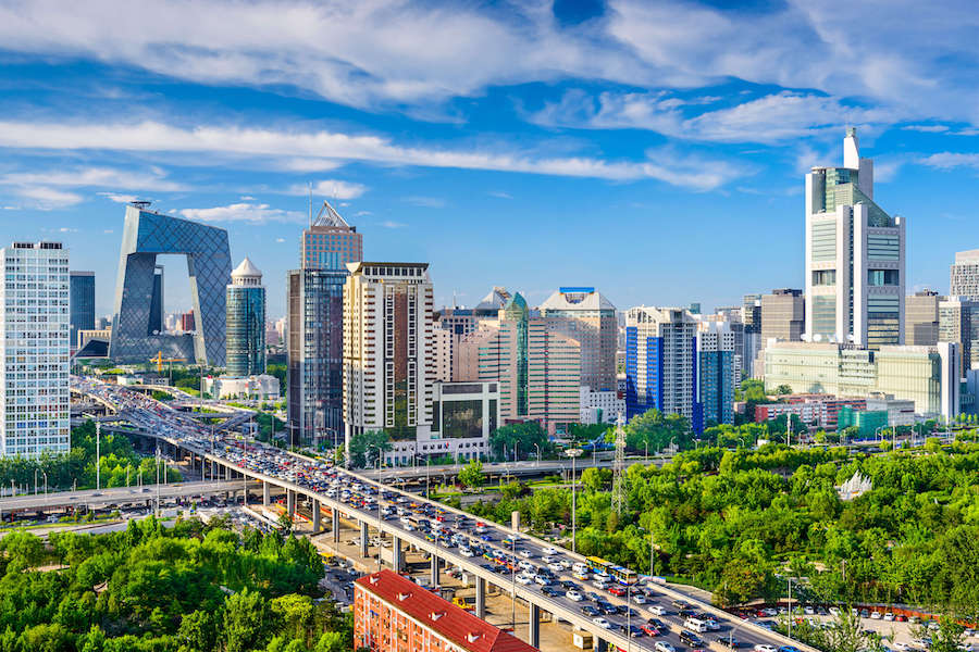 Вид на Пекин - олицетворение роста уровня жизни в Китае