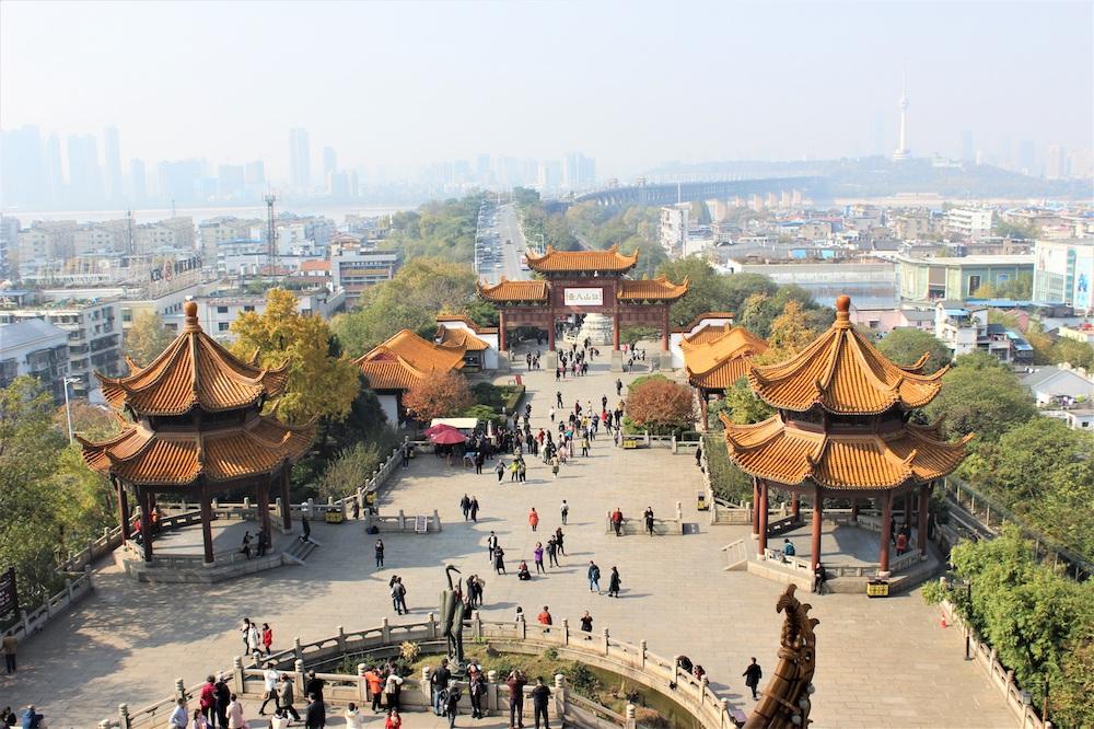 Вид на Ухань, Китай