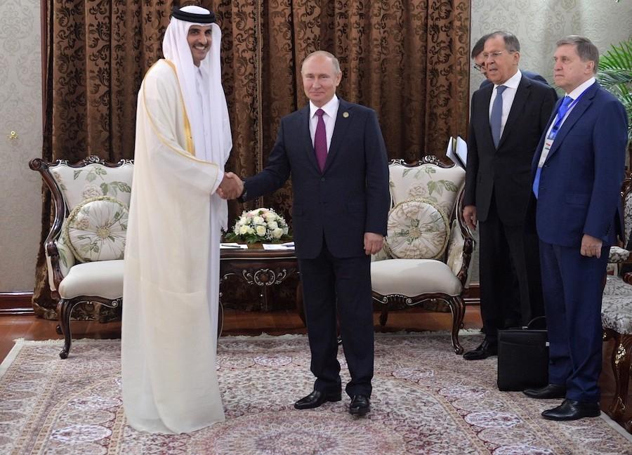Молодой эмир Катара Тамим бин Хамад Аль Тани, встреча с Владимиром Путиным