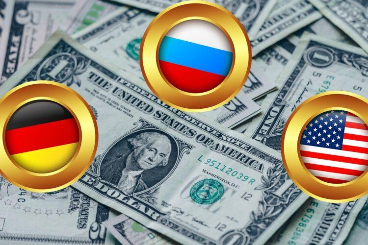 ВВП России, США и Германии