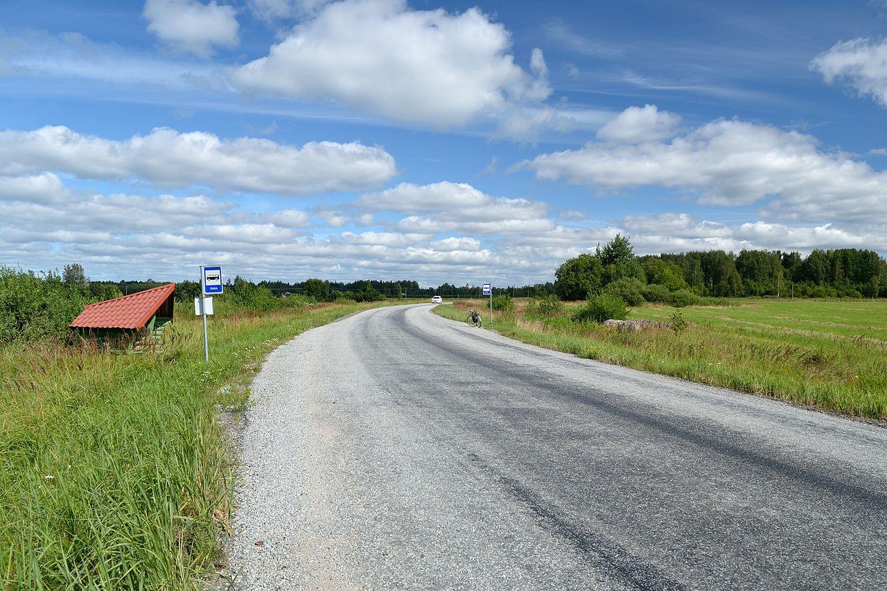 Качество дорог в эстонской глубинке
